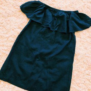 Old Navy Off-The Shoulder Navy Blue Linen Dress